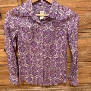 J. Crew paisley silk blouse